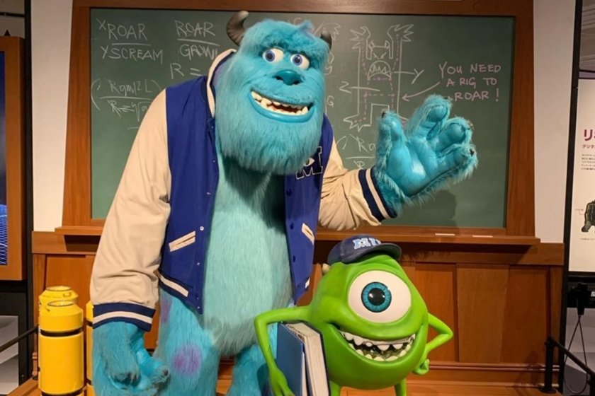 Pixar favorites Sully and Mike from Monsters Inc.