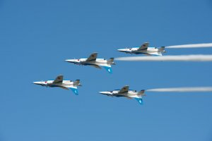Blue Impulse mid-show from 2012