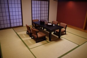Japanese style room for group of 5 to 7 people at Heian no Mori Hotel Kyoto