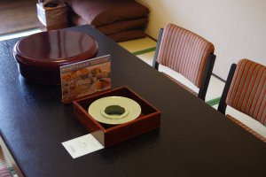 Detailed design with Japanese porcelain at Heian no Mori Hotel Kyoto