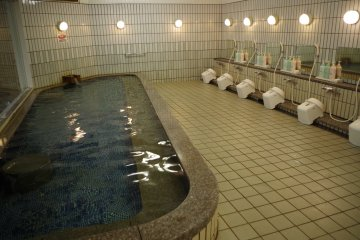Womens' large bath area at Heian no Mori Hotel Kyoto