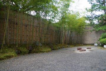 The Zen garden next to the Japanese restaurant Rakuraku at Heian no Mori hotel in Kyoto