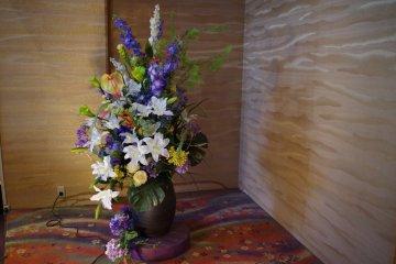 Ikebana is the Japanese traditional flower arrangement at Heian no Mori Hotel Kyoto