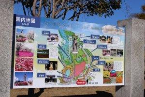 Map of the grounds of Ushiku Daibutsu