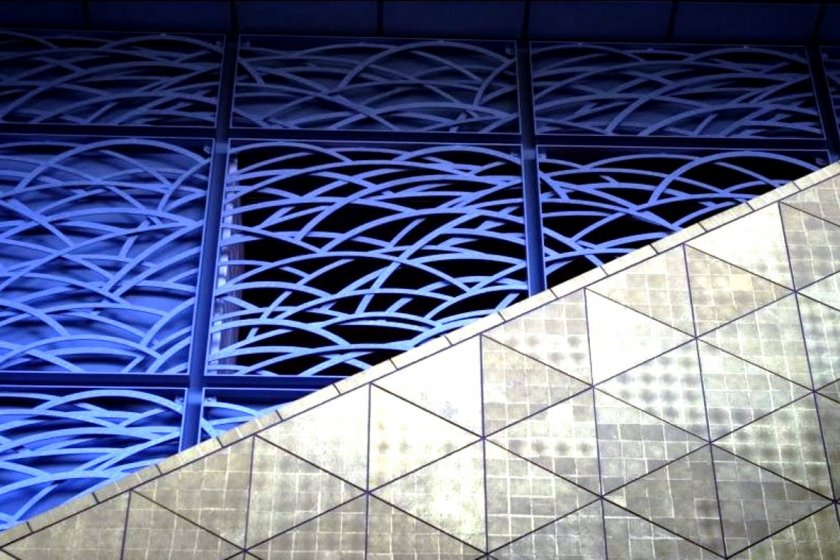 Traditional Indigo sea wave patterns in a modern light