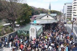 Harajuku Station congestion