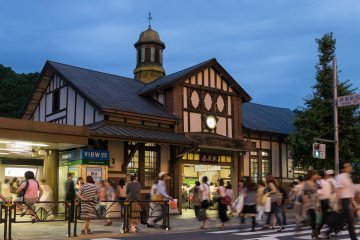 Harajuku Station in the evening