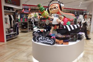 Splatoon goods on board