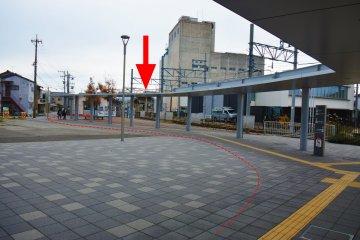 Shin-Nishikanazawa Station from JR Nishikanazawa Station