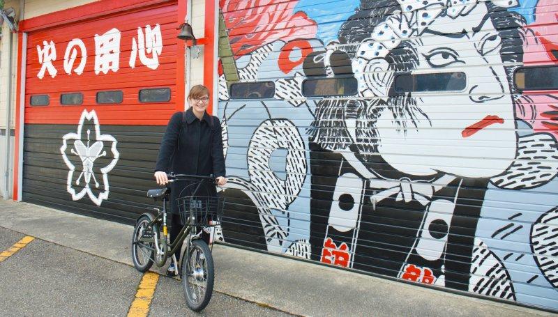 Renting a bike makes it easy to travel around Tsurugi