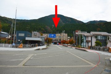 This is the Tsurugi Branch as seen from Tsurugi Station