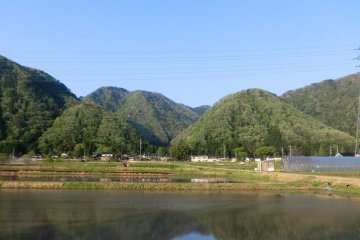 Scenery around the valley just south of Tsurugi