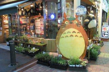 Рядом расположен магазин с персонажами студии GHIBLI, в том числе Тоторо