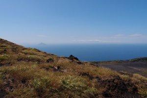 Views from Mt. Mihara, Oshima Island