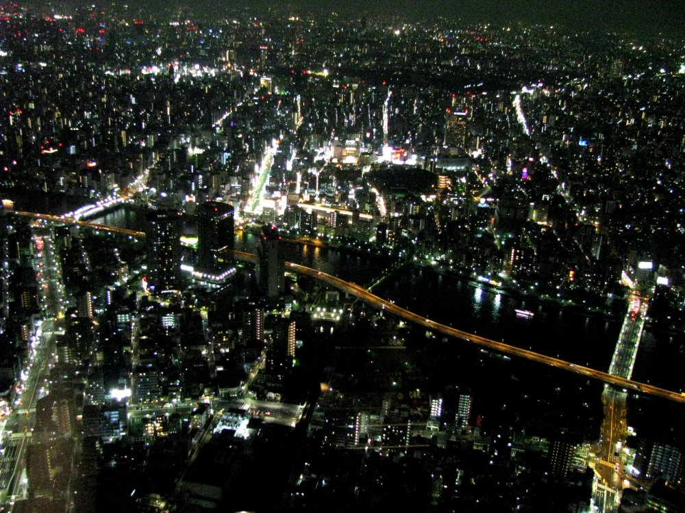 Tokyo at night from Skytree