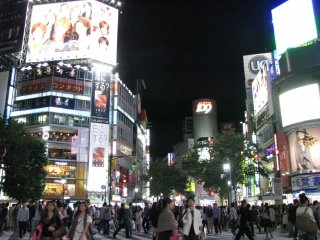 Night illumination of Shibuya