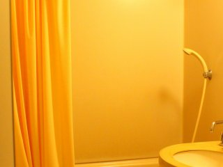 I gave the toilet and bathroom a 3-stars-rating. It's not my ideal one, but it's fair enough for an over-night travel.