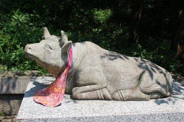 Изображения коровы и быка в Японии