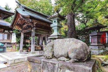 Акабэко в храме Эндзодзи в Янайдзу