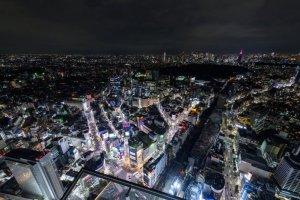 View from Shibuya Sky's Sky Stage