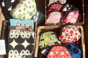 japanese purses in various traditional japanese designs