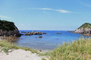 Secluded beach, Shikinejima Island