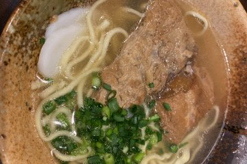 Soki soba, an Okinawan noodle soup is also available and excellent
