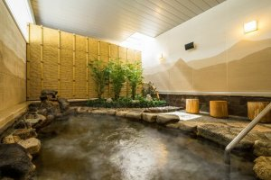 Natural hot spring bath