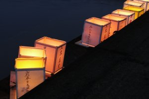 Lanterns along the riverbank