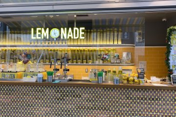 Lemonade is a store counter in Shibuya Stream