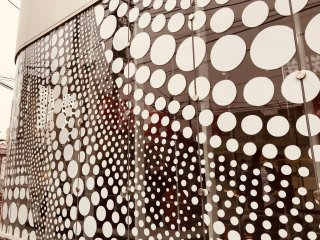 Kusama's design themes are seen throughout the museum