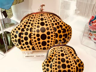 Kusama design products are available in the gift shop