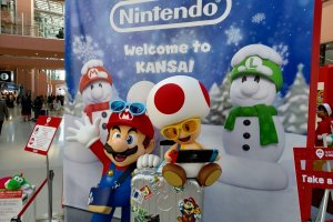 Nintendo Switch display at KIX surely helping build anticipation for Super Nintendo World