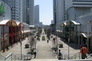 Straight and wide streets of central Yokohama