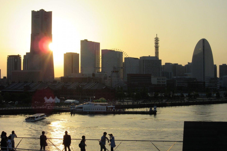 A quiet sunset in Yokohama