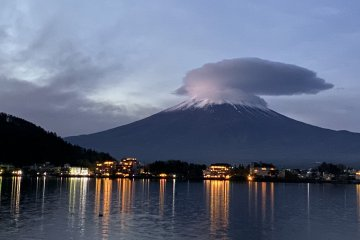 Mt. Fuji and Lake Kawaguchi can be easily seen from the rooms