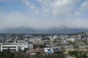 Matsumoto is surrounded by the Hida Mountain Range