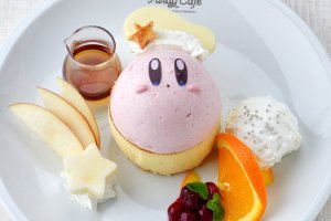 Fluffy pancakes and Kirby mousse
