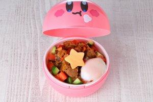 Kirby Loco Moco rice bowl