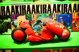 Akira paraphernalia are seen throughout the exhibit