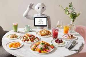 Pepper welcomes you to a waffle Utopia