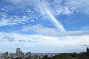 The wide sky over Sendai