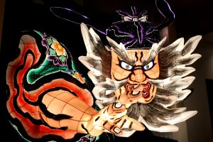 Giant illuminated figures of the Nebuta Matsuri