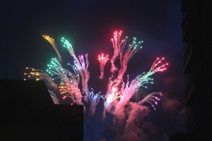 Summer fireworks are known as 'hanabi'