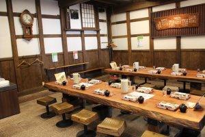 Ishikawa Brewery dining room