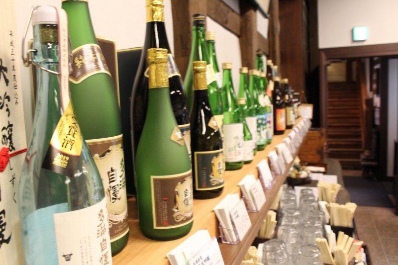 Ishikawa Brewery - Selection of nihonshu