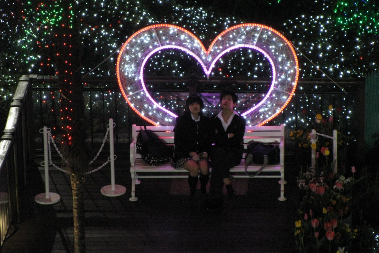 A special place for lovers at Cosmo World Park of Yokohama