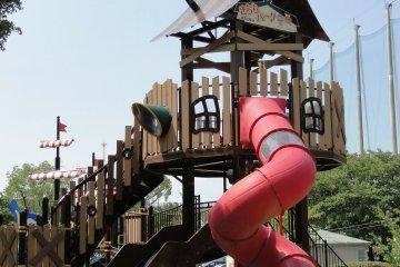 The playground tower for 6-12 year old kids