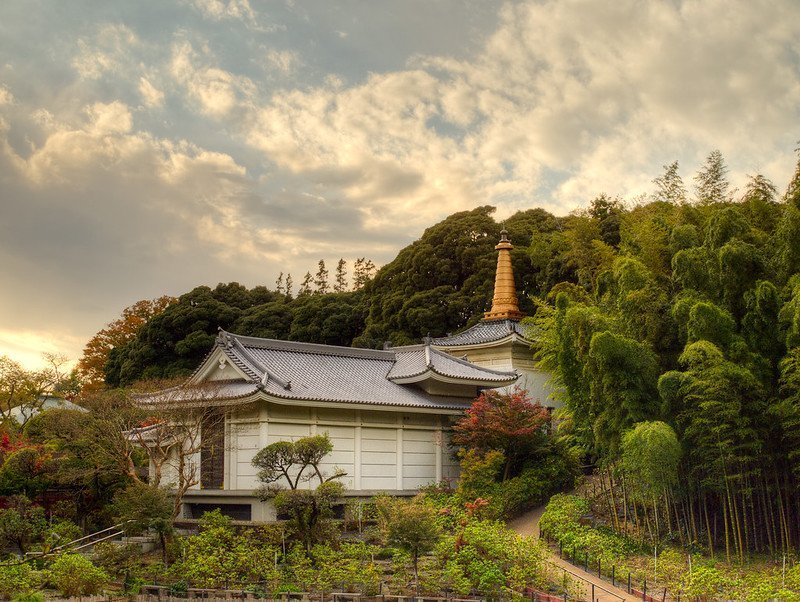 Autumn skies over the temple