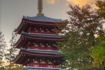 The pagoda in autumn